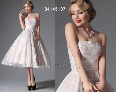 فستان الحفلة القصير لزفاف