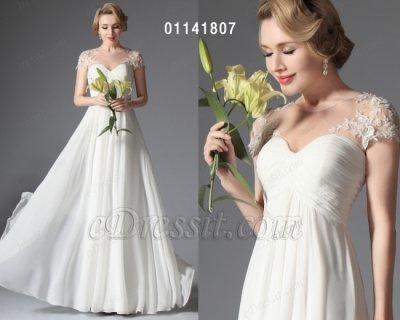 eDressit فستان الزفاف الأبيض للبيع
