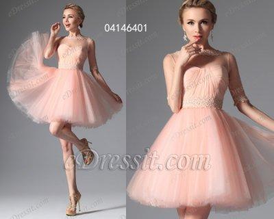 فستان وردي قصير للبيع