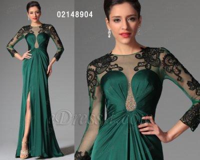 فستان أخضر قاتم للبيع