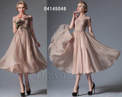 فستان شامبانيا للبيع