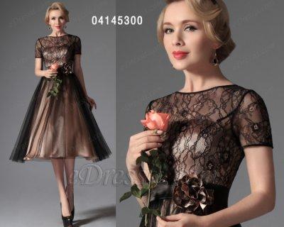فستان الأسود الدانتيل للبيع eDressit