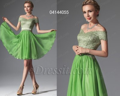 فستان أخضر قصير للبيع eDressit