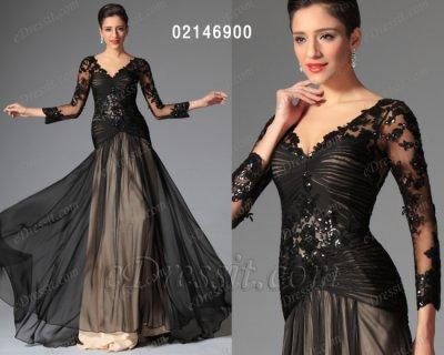 فستان أسود محجب للبيع