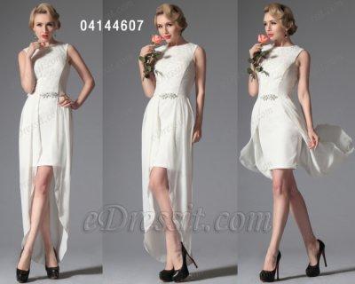 فستان الحفلة الأبيض للبيع