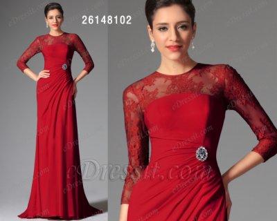 فستان أحمر قاتم للبيع eDressit