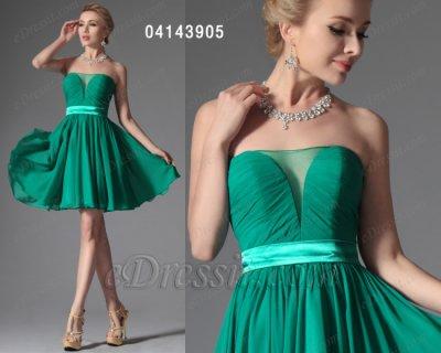 فستان قصير جديد باللون الأخضر للبيع