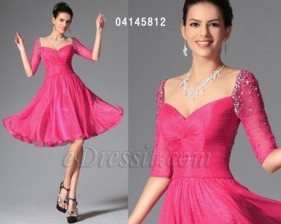 فستان قصير ناعم باللون الوردي للبيع