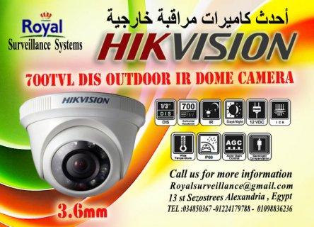 كاميرات مراقبة داخلية  700 TVL ماركة HIKVISION بالاسكندرية