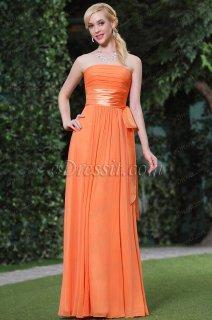 فستان برتقالي بسيط للبيع