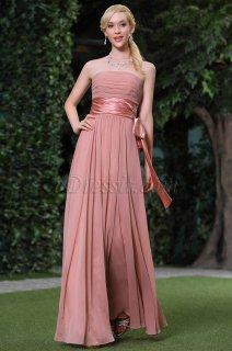 فستان بسيط باللون الوردي الأسمراني للبيع