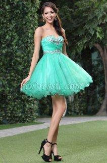 فستان أخضر بالترتر