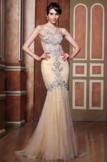 فستان شامبانيا بالخرزات للبيع
