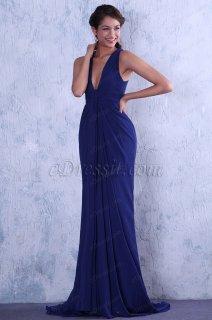 فستان أزرق شيك للبيع