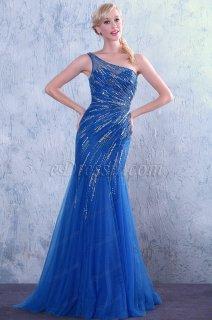 فستان أزرق بالخرزات للبيع
