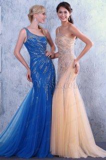 فستان شامبانيا أنيق بالخرزات للبيع
