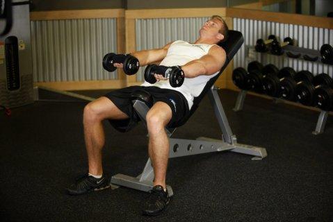 بنش مائل لشد الجسم وبناء العضلات من اليسر جروب