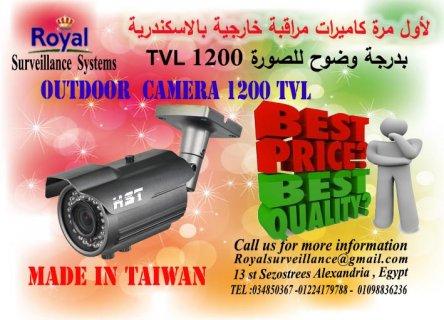 لاول مرة بالاسكندرية كاميرات مراقبة خارجية 1200 بعدسات 6mm TVL ص