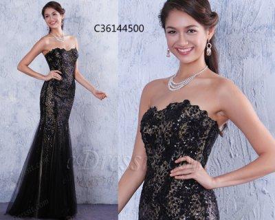 فستان أسود بالترتر رائج للبيع
