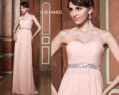 فستان وردي ناعم للبيع