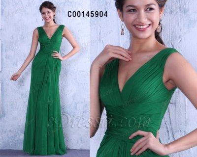 فستان أخضر مثير أنيق للبيع eDressit