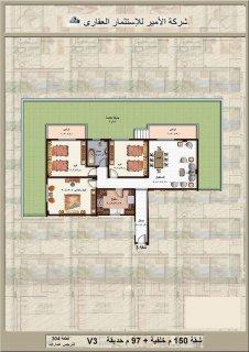 شقة خلفية بحرية مميزة بالنرجس عمارات بتسهيلات كبيرة