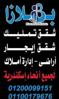 شقه فرصه للعروسين علي جمال عبد الناصر بسعر مغري
