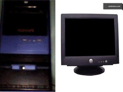 جهاز كمبيوتر كامل دسك توب+الشاشة الجهاز بحالة جيدة