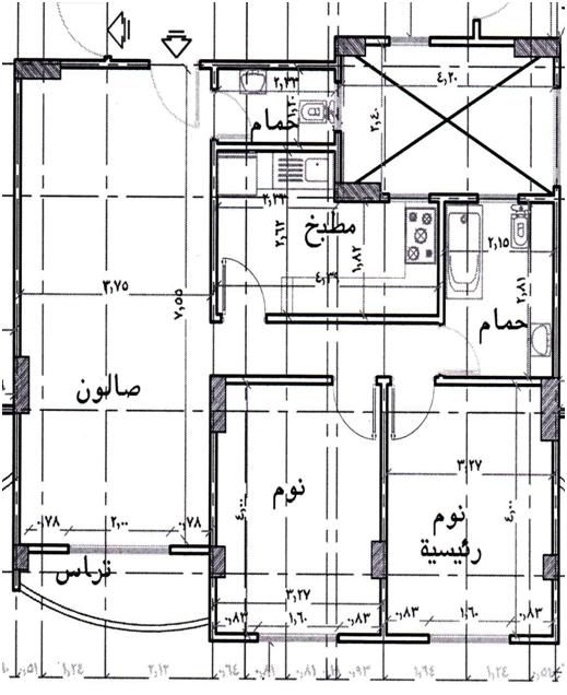 للبيع شقة 115م بأكتوبر أمام منطقة خدمات