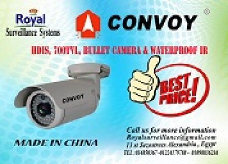 كاميرات مراقبة خارجية 700 TVL  ماركة CONVOY IR  20m