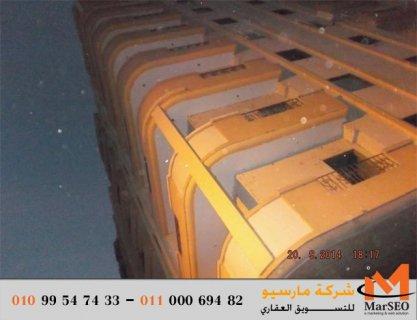 شقة للبيع بالتقسيط فى شبين الكوم المنوفية  155 م تطل علي البحر