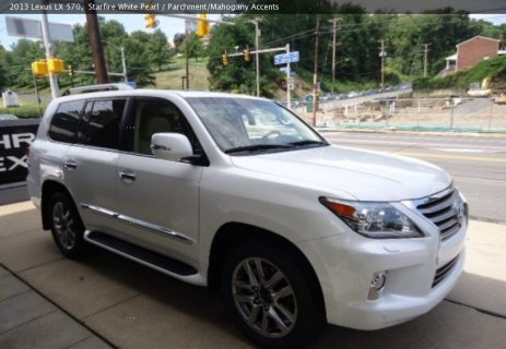 URGENT SALE LEXUS LX570 2013 (White) Only for 25,000$