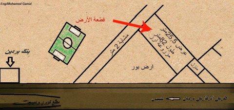 ارض لقطة 12 قيراط تقع قبل كوبري بردين بسعر مناسب جدااا