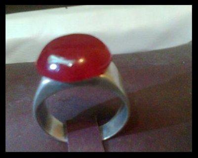 للبيع خاتم  من حجر الدم قديم