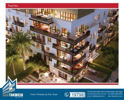 """شقة 205متر للبيع فى مشروع سوديك \""""ايست تاون\"""""""