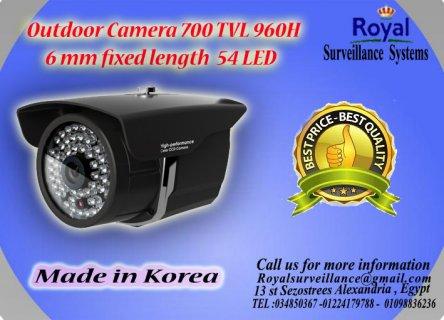 كاميرات مراقبة خارجيةTVL 700  960H بعدسات mm6