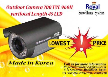 كاميرات مراقبة خارجيةTVL 700  960H بعدسات متغيرة