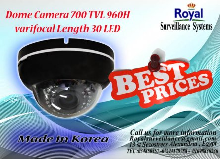 كاميرات مراقبة داخلية  TVL 700  بعدسات متغيرة  960H