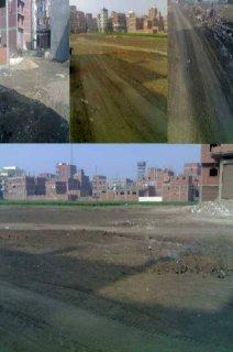 يوجد قطعة ارض للبيع فى مبانى حى مبارك الجديده