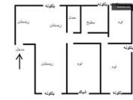 شقة للبيع خلف مدرسة الاوائل في الشوبك مساحة 135 م