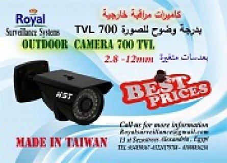 كاميرات مراقبة خارجية 700TVL بعدسات متغيرة صنع فى تايوان بالاسكن