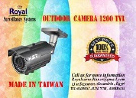 كاميرات مراقبة خارجية بجودة ممتازة بعدسات 6mm 1200  TVL صناعة تا