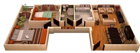 شقة بالمعادي بالمعراج 95م  للبيع بالتقسيط