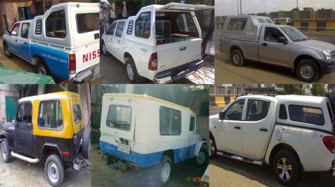 جميع   انواع   كبائن   السيارات    فيبرجلاس.... الشروق فيبركوم