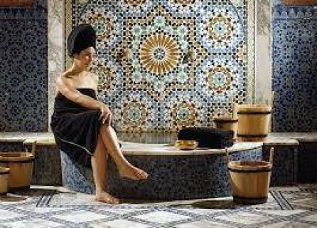 حمام مغربى بالطمى والصابون المغربى فى غرفة بخار 01094906615ــــ