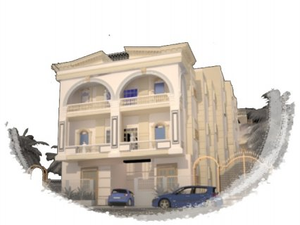 مدينة الشروق بالاحياء فيلات شقة امامى 185م امامى بحديقة خاصة