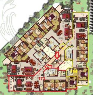 شقه بالشروق للبيع بالدور التالت مساحة 173م