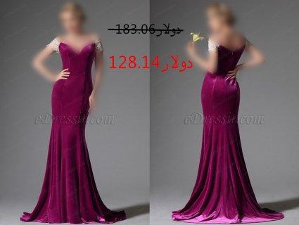 30%خصم فستان السهرة الأسود والأبيض