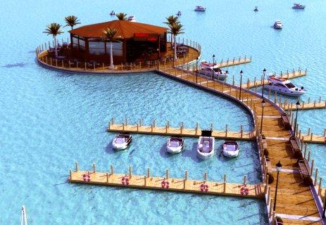شاليه لقطة للبيع 125م بالعين السخنة يطل على حمام السباحة والبحر
