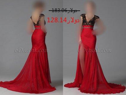 30%خصم فستان العيد الأحمر